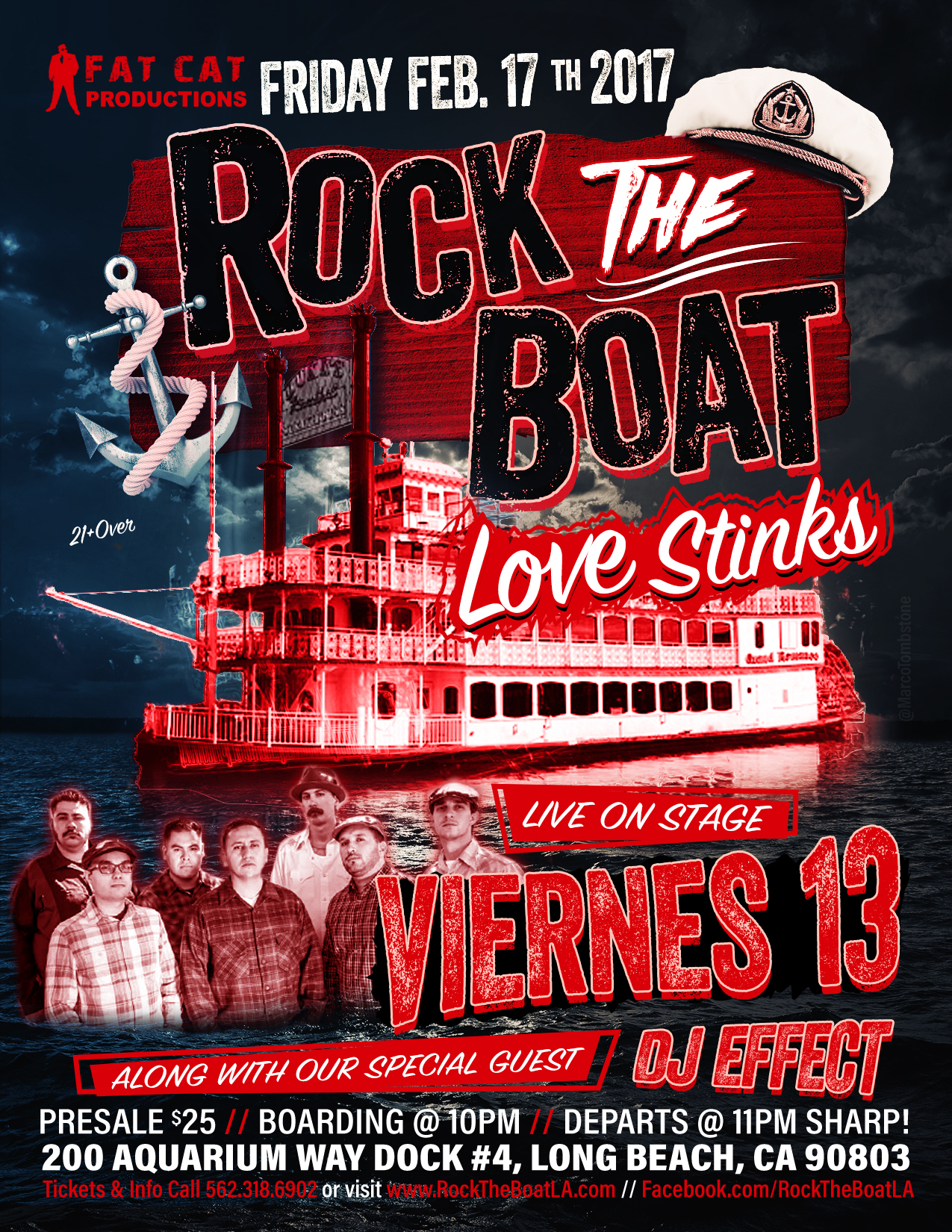 POSTPONED Viernes 13 at ROCK THE BOAT Tickets 02/24/17
